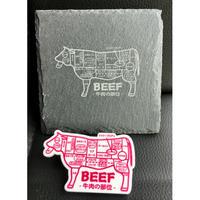 牛肉の部位 バッチ! なんと!ワニ口クリップ ピン付