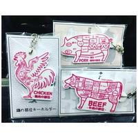 三身一体  セット  「チキンポークビーフ」肉の部位  鶏肉 豚肉 牛肉 部位ブイ部位!