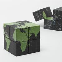 回転式地球儀 8つの立方体 アース&スカイ
