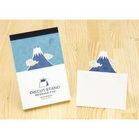 ダイカットスタンドメッセージパッド 富士山