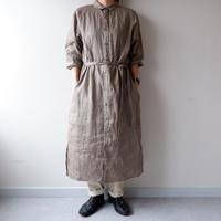 UNIVERSAL TISSU (ユニバーサルティシュ)/リネンロングシャツドレス/beige