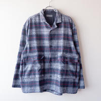 SLOW HANDS(スローハンズ)/melamge check wayferer shirts/ネイビー