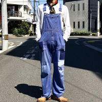 【FROM EURO】OLD EURO WORK OVERALL/vintege/repair/blue/O-2