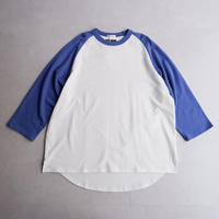 【NASNGWAM×SPINNER BAIT】 BASEBALL TEE /White×Blue