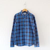 weac.(ウィーク)/パグちゃんシャツ Blue Check
