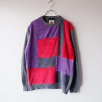 Nasngwam (ナスングワム) /MONDRIAN KNIT/red/ M-2