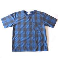 weac.(ウィーク)/ティー&ティーシャツ ブルーチェック