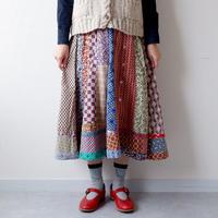 【一点モノ】TIGRE BROCANTE( ティグルブロカンテ)/ロータスシャツミックススカート/ナチュラル