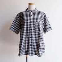 TIGRE BROCANTE (ティグルブロカンテ)/インディゴギンガムチェックバンドカラーオープンシャツ/indigo