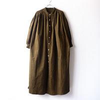 UNIVERSAL TISSU (ユニバーサルティシュ)/クラシック ギャザーシャツドレス/カーキ