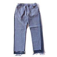 Sunny side up(サニーサイドアップ)/2 for 1 Front Low Black Denim /size:L/4-A