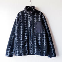 LAST CHANCE(ラストチャンス)/RETRO BOA FLEECE JACKET/Black×有刺鉄線
