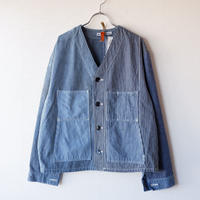 【New Design】SUNNY SIDE UP(サニーサイドアップ) /Remake engineer jacket /hickory/4-L