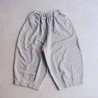 HARVESTY (ハーベスティ)/30/7度詰シルケット裏毛/cropped easy circus pants/gray