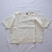 TIGRE BROCANTE(ティグルブロカンテ)/リネンVネックオーバーシャツ  ホワイト