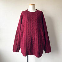 【FROM EURO】fishermans sweater/Burgundy/used/古着