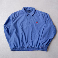 【Fron USA】90S  Ralph Lauren/ POLO GOLF/ half snap pull over/blue-XL