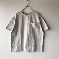 UNIVERSAL TISSU (ユニバーサルティシュ)/アメリカンコットン BIGポケットTシャツ/ベージュ