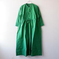 TIGRE BROCANTE (ティグルブロカンテ)/コットンシルクヨーク切替ギャザーワンピース/Green