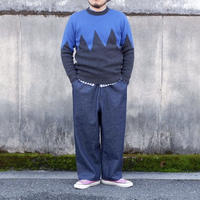 weac ZIGZAG KNIT blue