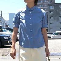 TIGRE BROCANTE (ティグルブロカンテ)/  ブロードギャザー5分袖シャツ/Bluegray