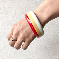 【FROM USA】used  bangle /used/red-beige-White
