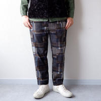 weac.(ウィーク)/relax easy pants/patchwork gray