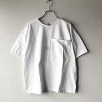 UNIVERSAL TISSU (ユニバーサルティシュ)/アメリカンコットン BIGポケットTシャツ/シロ