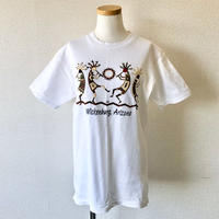 【FROM USA】 used print T-shirt /used/White/T-4