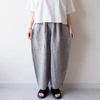 HARVESTY (ハーベスティ)/LINEN GLEN PLAID CIRCUS PANTS/gray