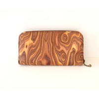 MAGNET (マグネット)/Round Fastener Long Wallet wood brown
