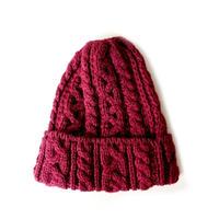 HIGHLAND2000(ハイランド2000) /British Wool 016 Cable Bobcap PORT