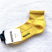 【今からの季節にこれ推奨品】RoToTo(ロトト)/FINE COOL ANKLE SOCKS/YELLOW