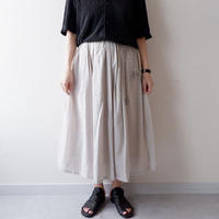 "SLOW HANDS(スローハンズ)/  ""Jugard Vertical PW Gather Skirt""/khaki"