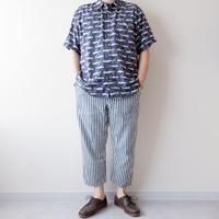 【FROM USA】short-sleeve fish print rayon shirts/used/21