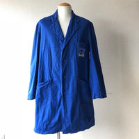 【FROM EURO】OLD EURO WORK COAT/used/front snap/blue