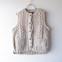 【hand knit】TIGRE BROCANTE (ティグルブロカンテ)/wool knit vest/natural