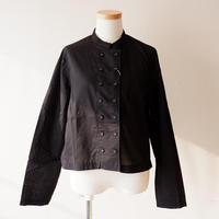 "CAERULA (カエルラ)/""front double stand color blouse/Black"
