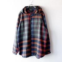 BRU NA BOINNE( ブルーナボイン)/チェンジチェックフードシャツ/ネービー