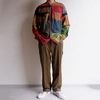 SLOW HANDS(スローハンズ)Bandana pw standcollar shirts/size:L/sand