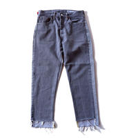 Sunny side up(サニーサイドアップ)/2 for 1 Front Low Black Denim /size:S/2-A