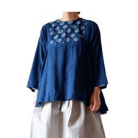TIGRE BROCANTE(ティグルブロカンテ)/  side gather flare blouse/tree