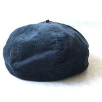 【どんぐり帽】HIGHER(ハイヤー)/コーデュロイベレー帽 /navy