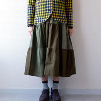 130 GARMENT/A08 TIERED SKIRT/ティアードスカート/remake/usa