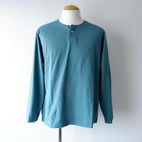 【ラスト1着/サイズ:M】Jackman (ジャックマン)/Henleyneck LS T-Shirt/aqua
