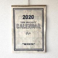 """TIGRE BROCANTE (ティグルブロカンテ)/2020年カレンダー""""SPORTS""""/手漉き和紙"""