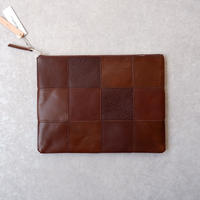 yes crafts/SQUARE POUCH-(L) / スクエア ポーチL/brown