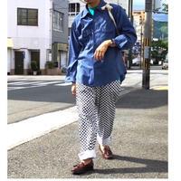 ☆チェッカーパンツ☆checkered flag cook pants /black×white