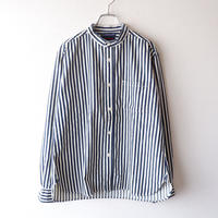 TIGRE BROCANTE (ティグルブロカンテ)/ヒッコリースタンドカラー長袖シャツ