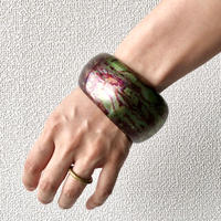 【FROM USA】used  bangle /used/green×purple